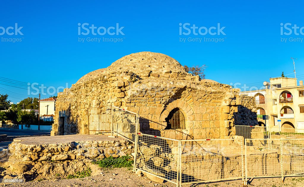 Ancient Frankish Baths in Paphos - Cyprus stock photo