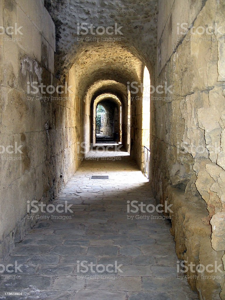Ancient gallery royalty-free stock photo