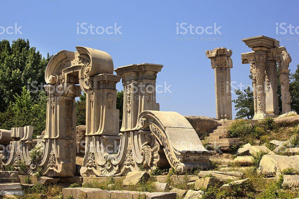 Ancient Gate Ruins Old Summer Palace Yuanming Yuan Beijing stock photo