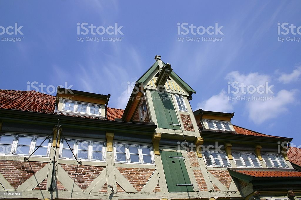Ancient german house stock photo