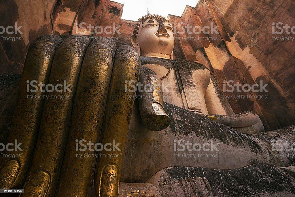 Ancient Giant Buddha Statue stock photo
