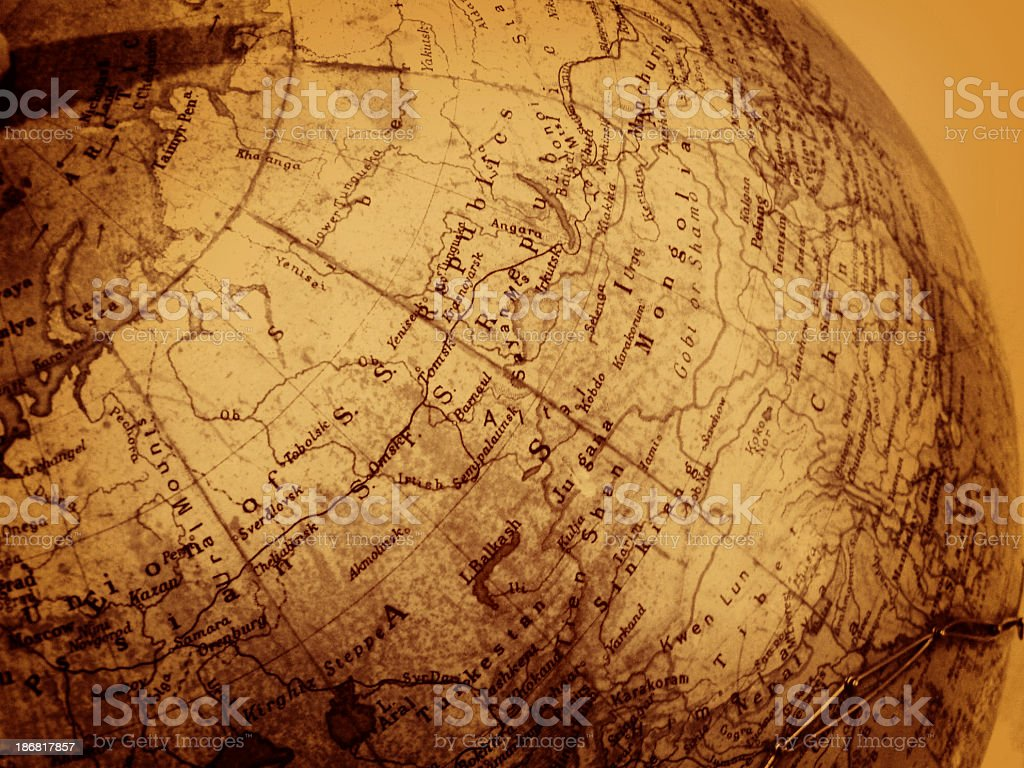 Ancient Globe stock photo