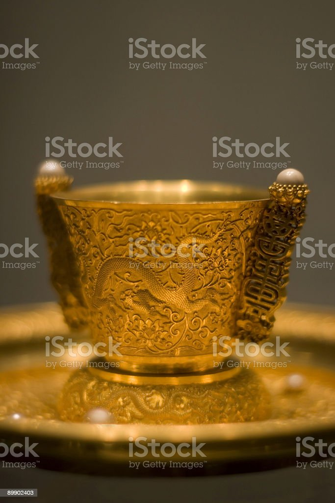 ancient gold tea service 2 royalty-free stock photo