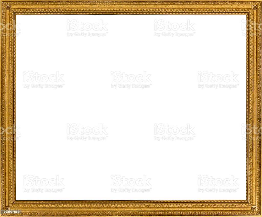 Ancient golden frame - baroque design stock photo
