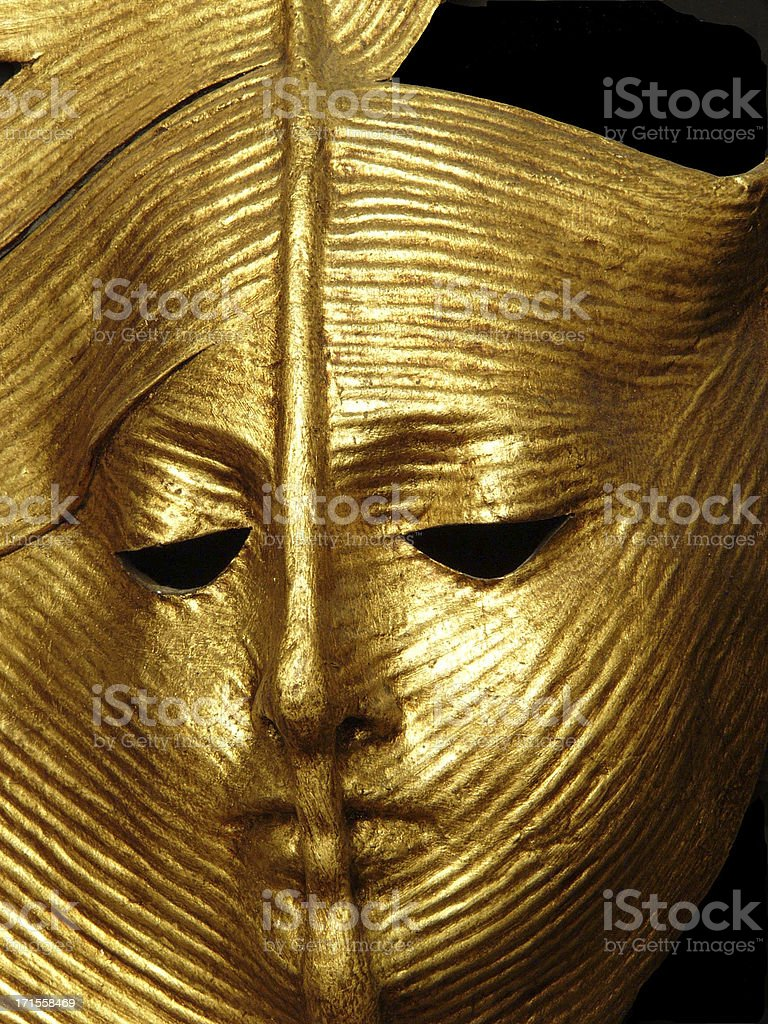 Ancient golden mask royalty-free stock photo