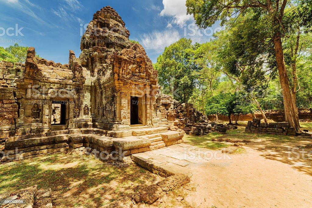 Ancient gopura of Ta Som temple. Angkor, Siem Reap, Cambodia stock photo