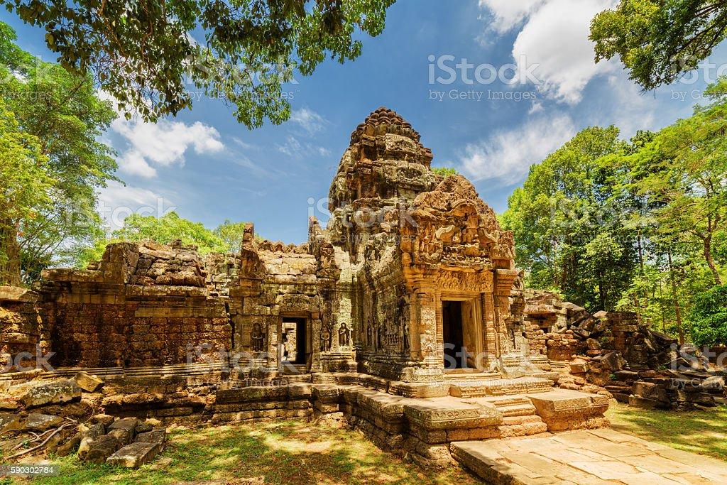 Ancient gopura of Ta Som temple in Angkor, Cambodia stock photo