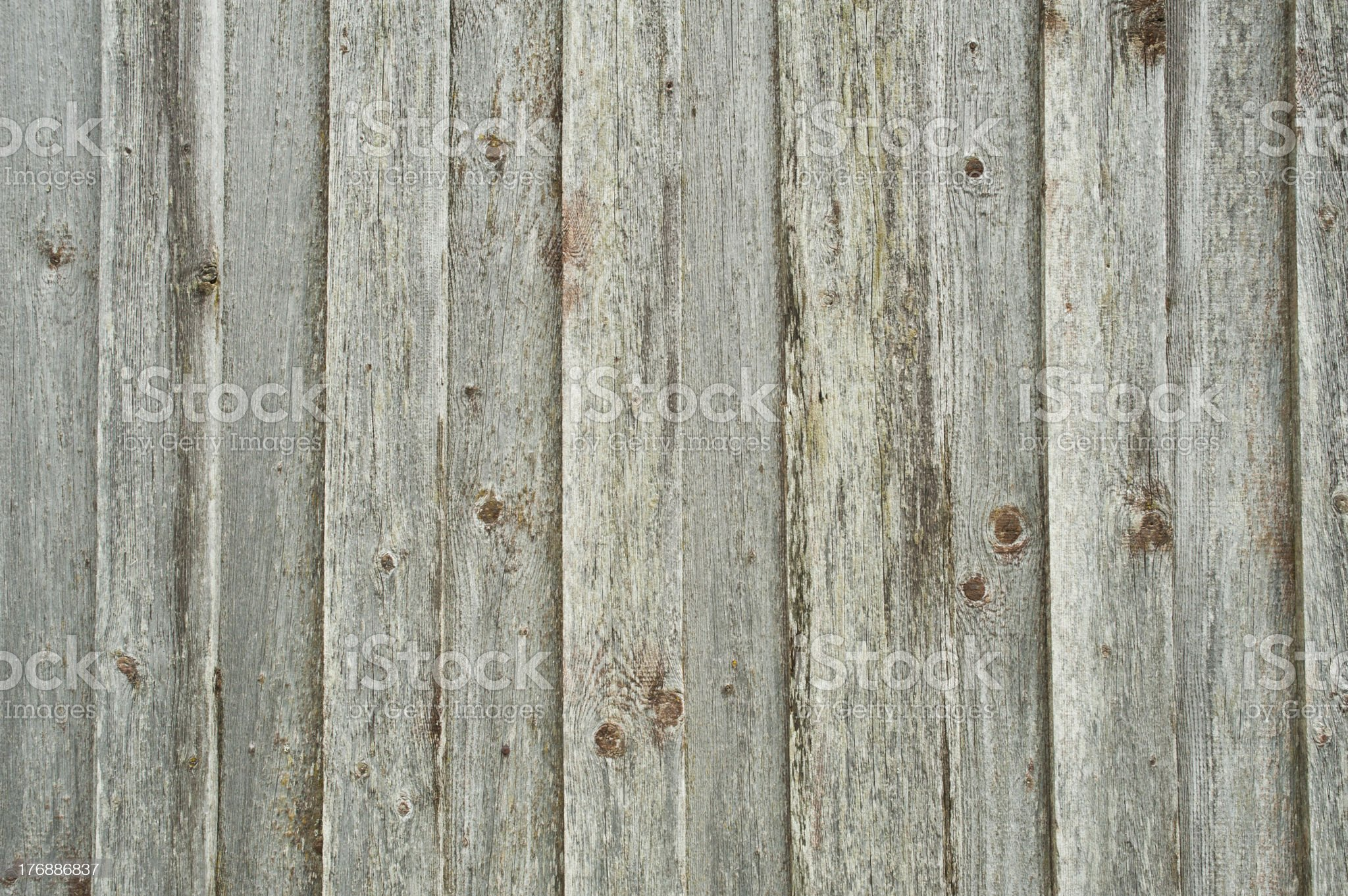 Ancient gray wood background on farmhouse wall. royalty-free stock photo