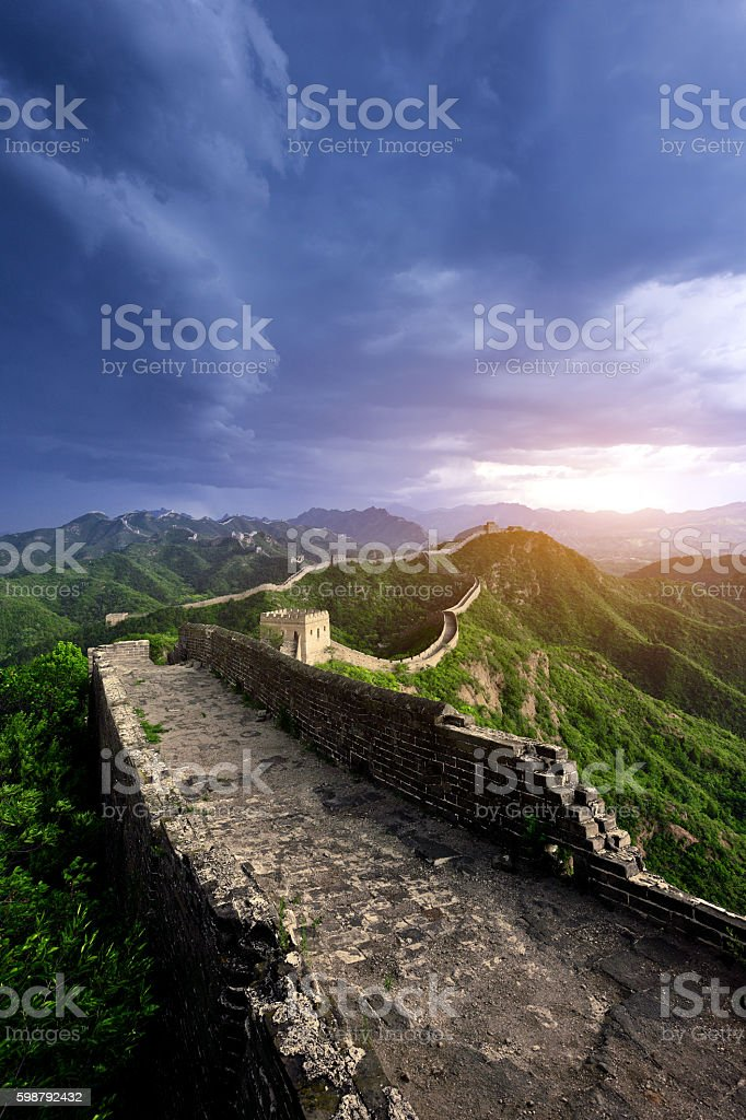 Ancient Great Wall Of China stock photo