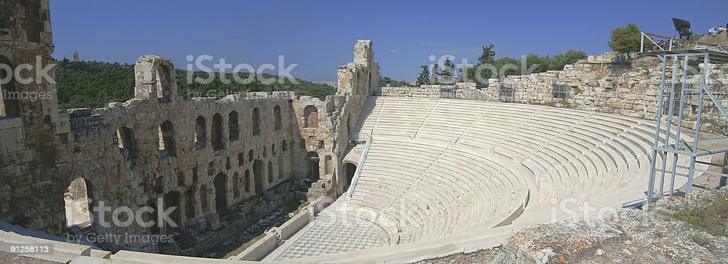 Ancient Greek Amphitheatre, Athens royalty-free stock photo