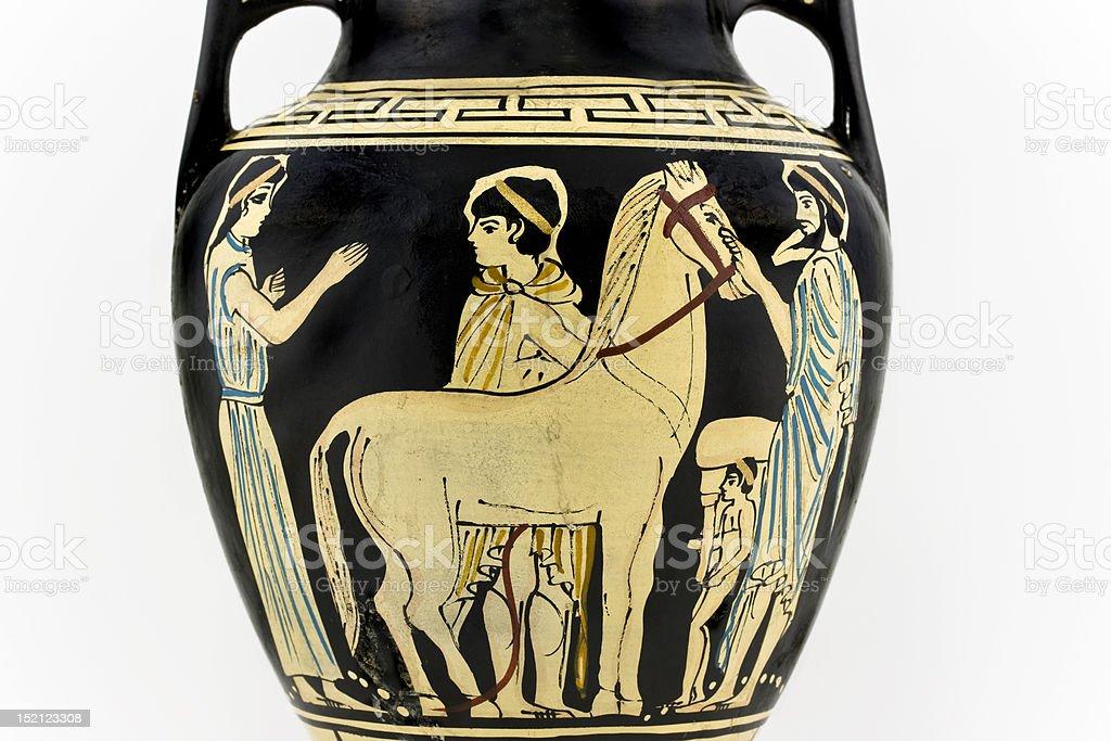 Ancient greek amphora royalty-free stock photo