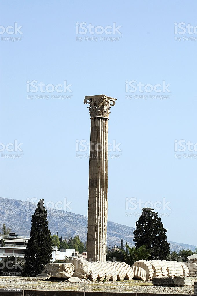 Ancient Greek Column royalty-free stock photo