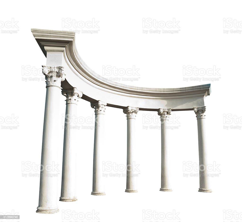 Ancient Greek columns stock photo