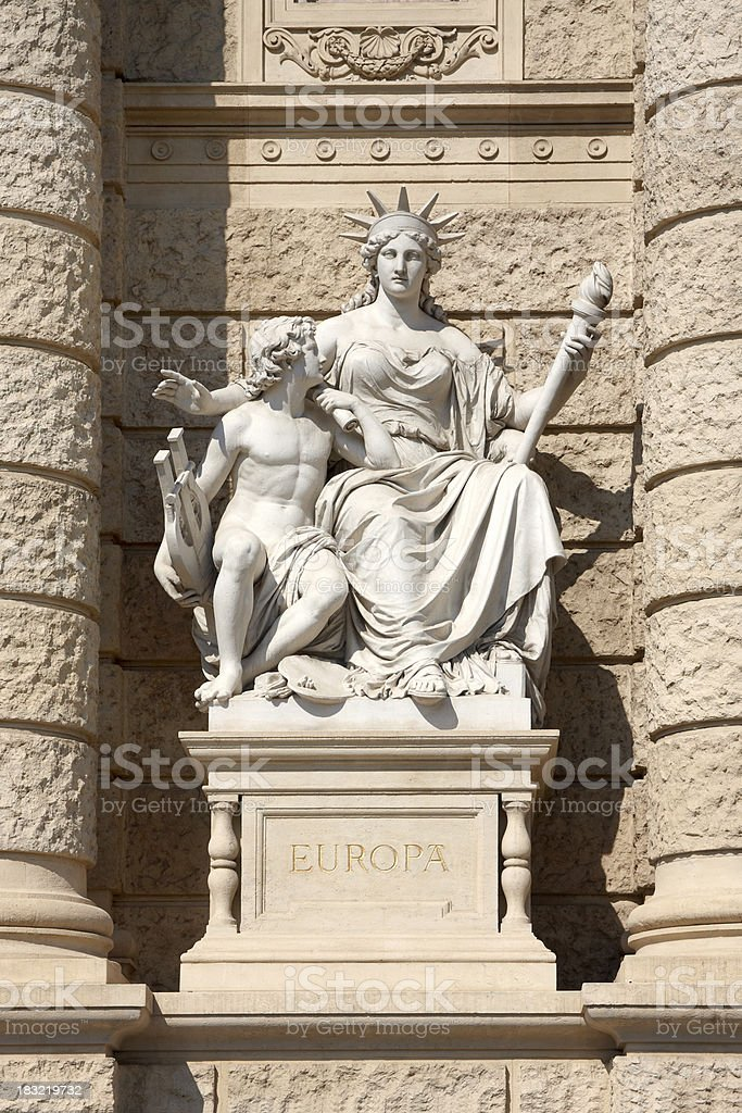 ancient greek liberty statue royalty-free stock photo
