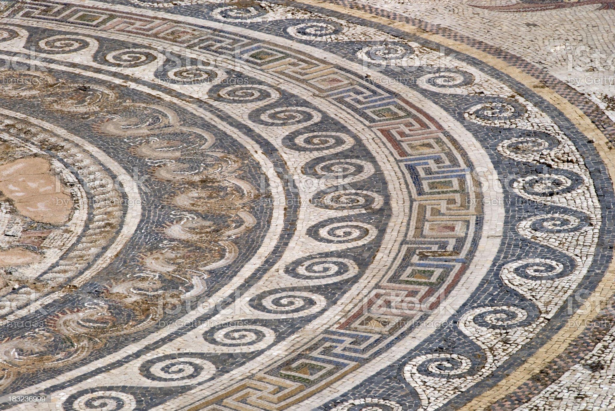 Ancient greek mosaic royalty-free stock photo