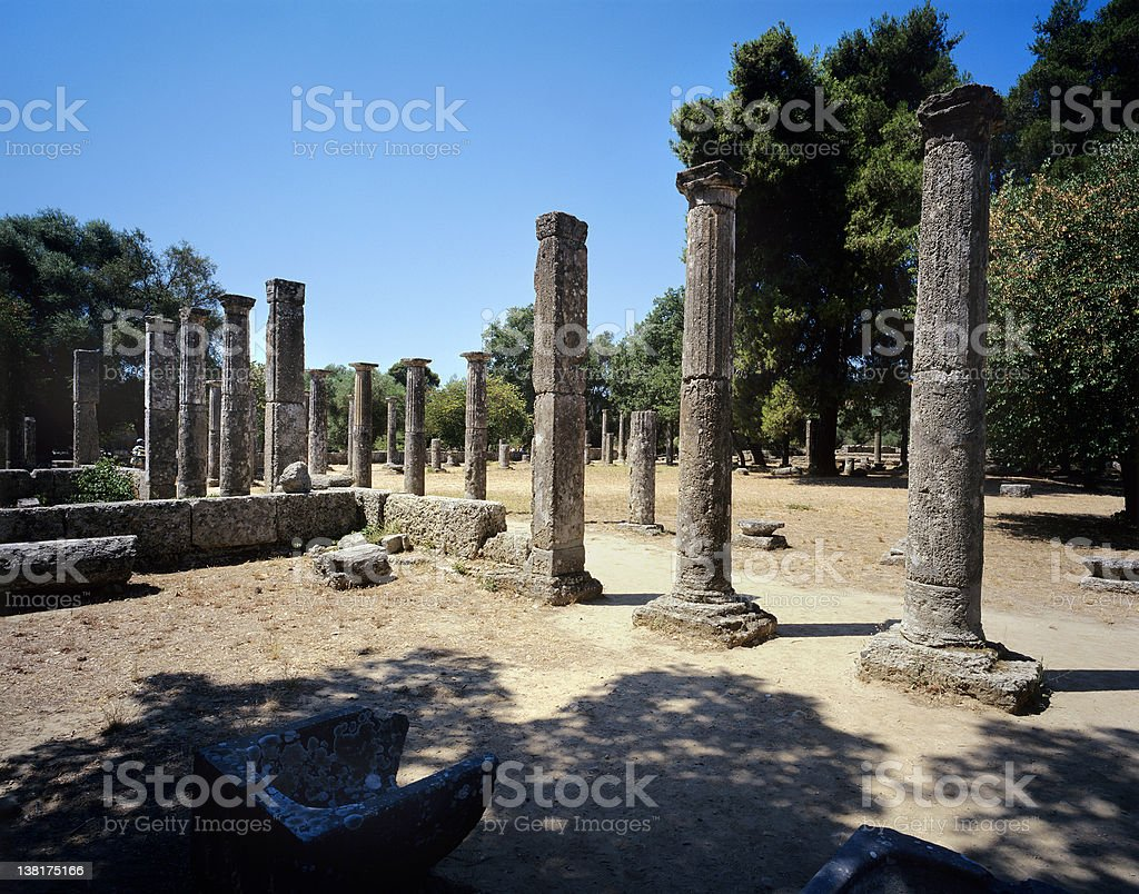 Ancient Greek Olympics stock photo