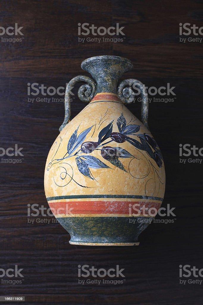 ancient greek orange vase royalty-free stock photo