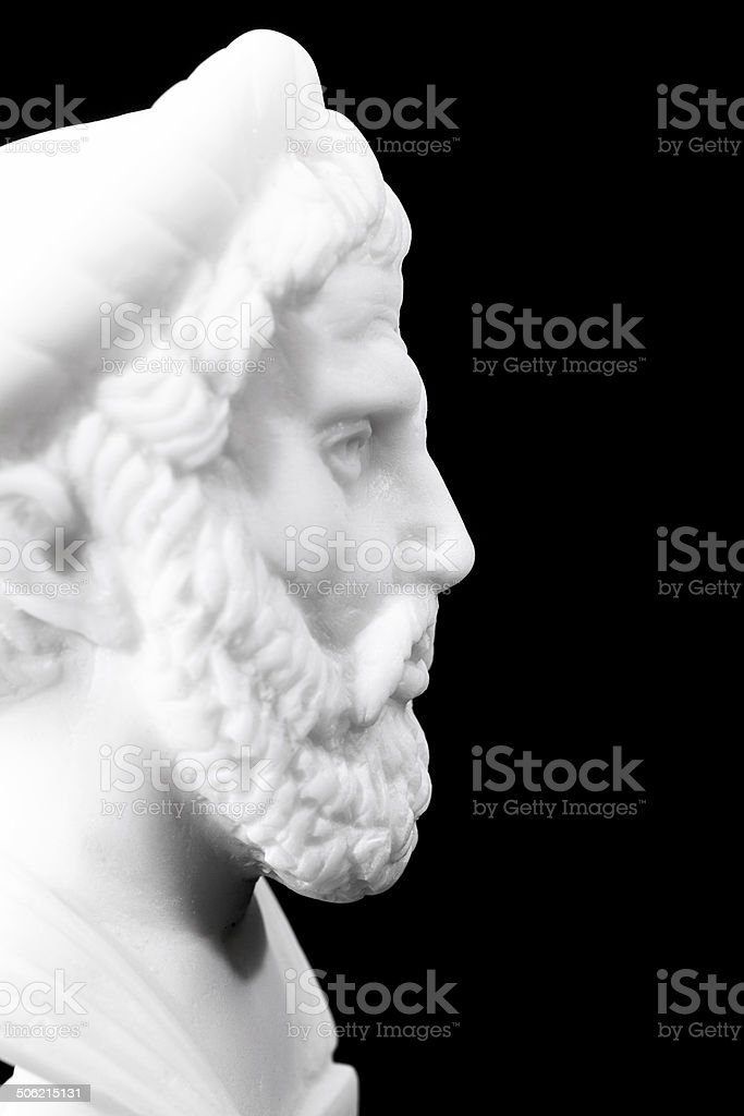 Ancient Greek philosophers stock photo