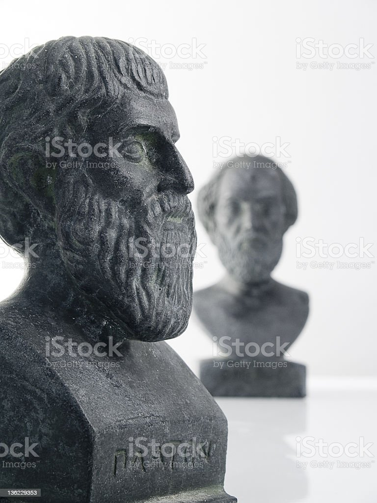 Ancient Greek Philosophy and Economy stock photo