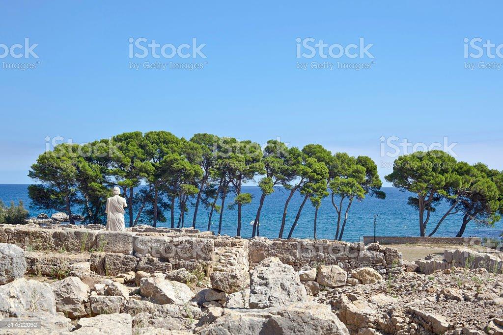 Ancient greek ruins in Empuries stock photo