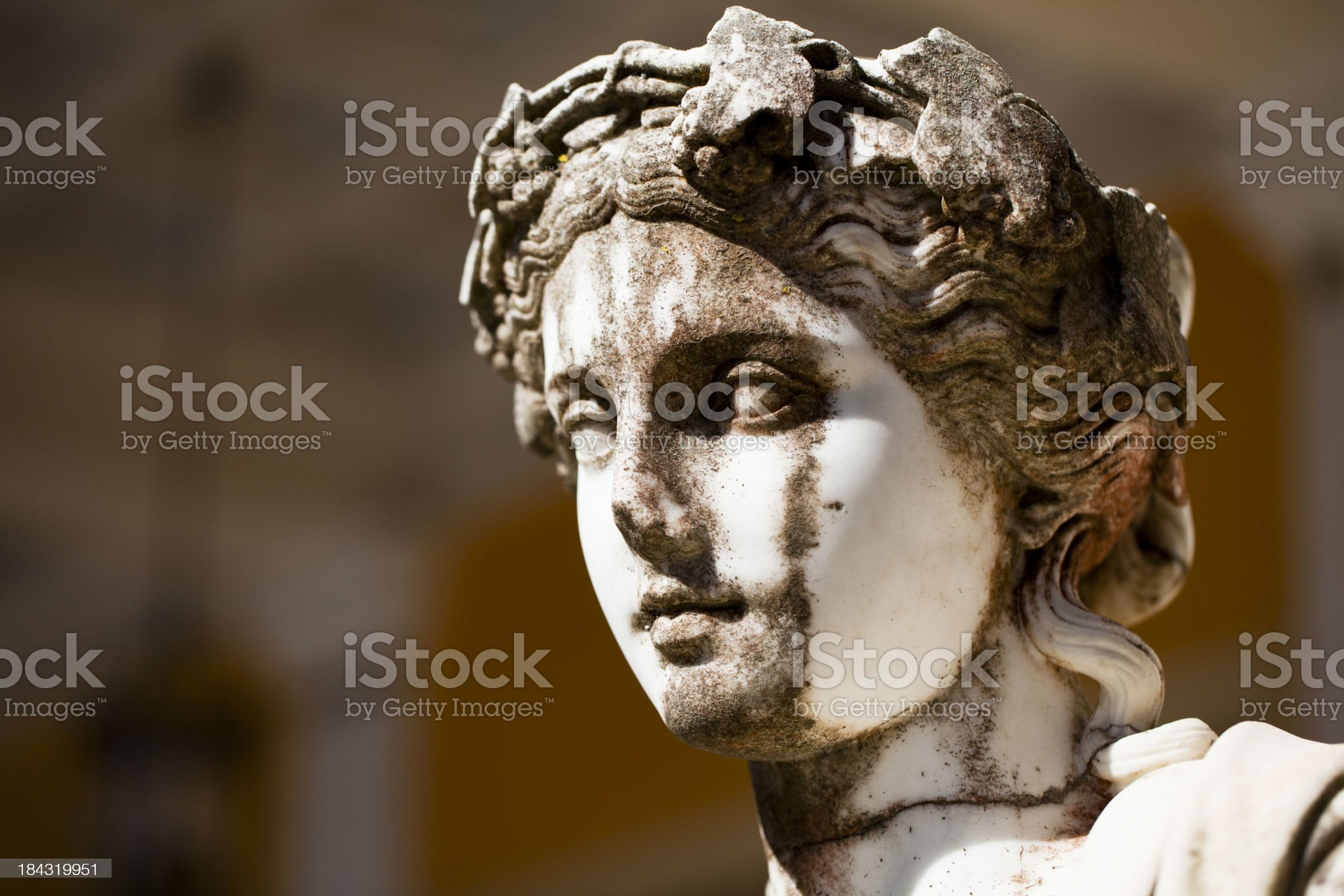 Ancient Greek statue, Corfu royalty-free stock photo