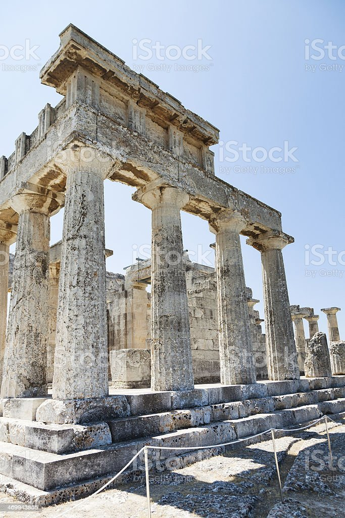 Ancient Greek Temple. Doric construction style. royalty-free stock photo