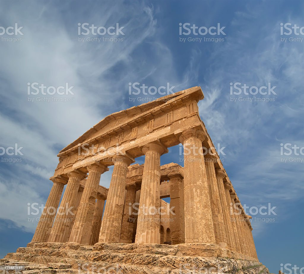 Ancient Greek temple of Concordia (V-VI century BC), Sicily royalty-free stock photo