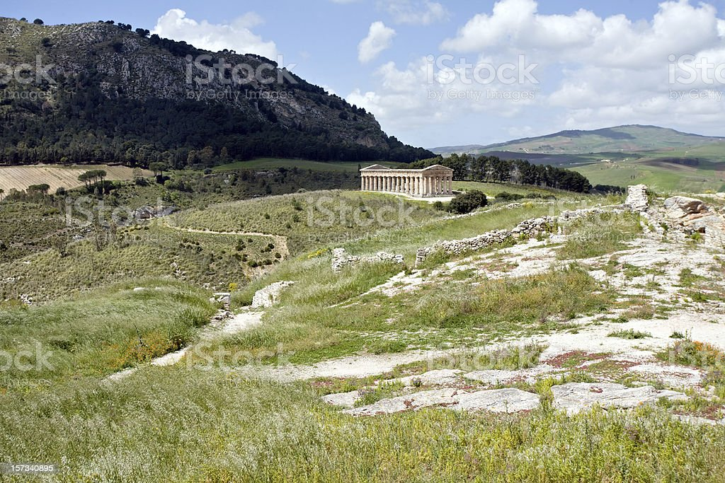 ancient Greek temple of Venus stock photo