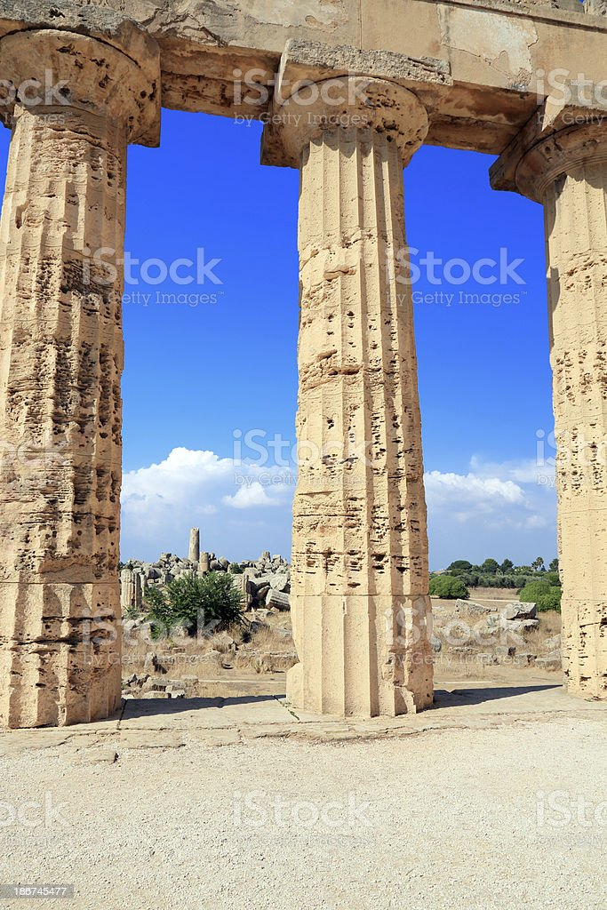 Ancient greek temple royalty-free stock photo