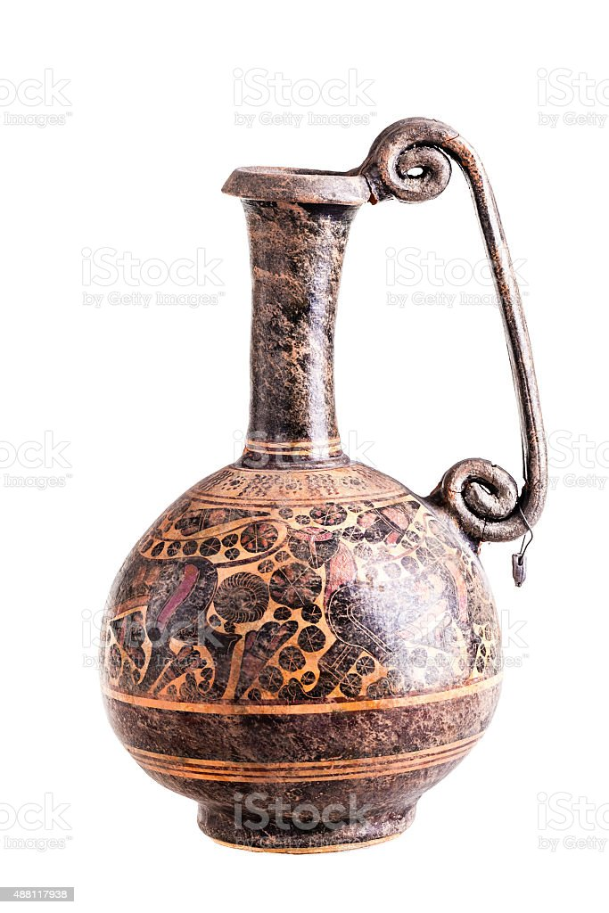 Ancient greek vase stock photo