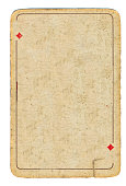 Ancient grunge playing card of diamonds background