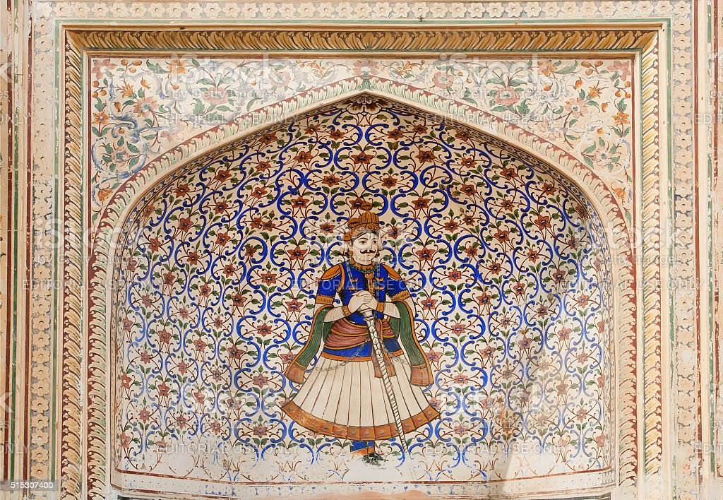 Ancient guard of Rajasthan stock photo