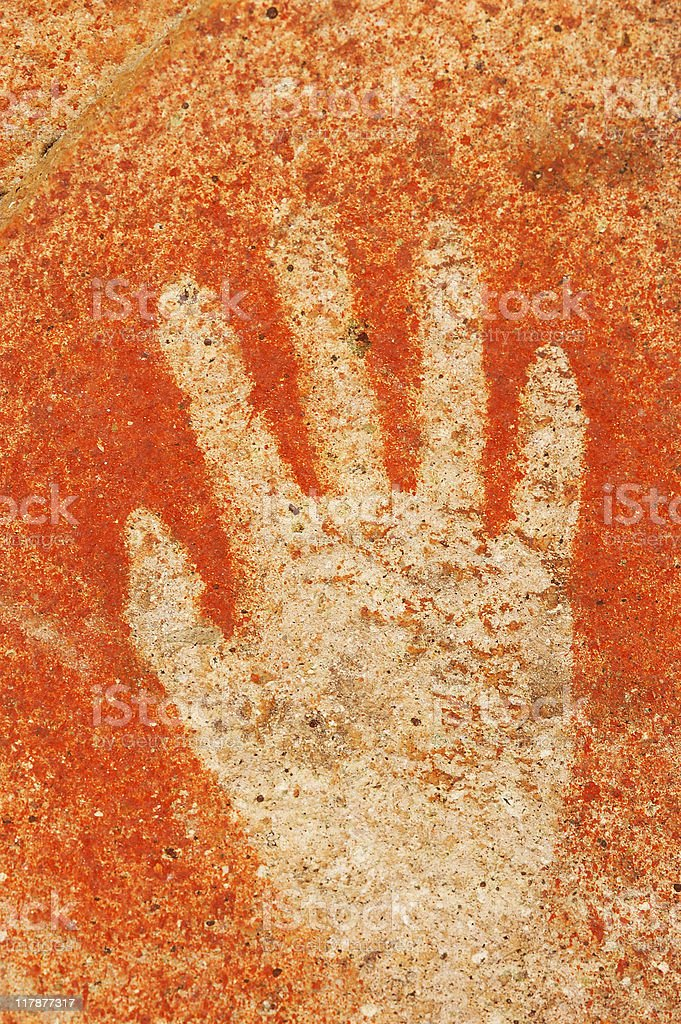 Ancient Hands Paintings stock photo