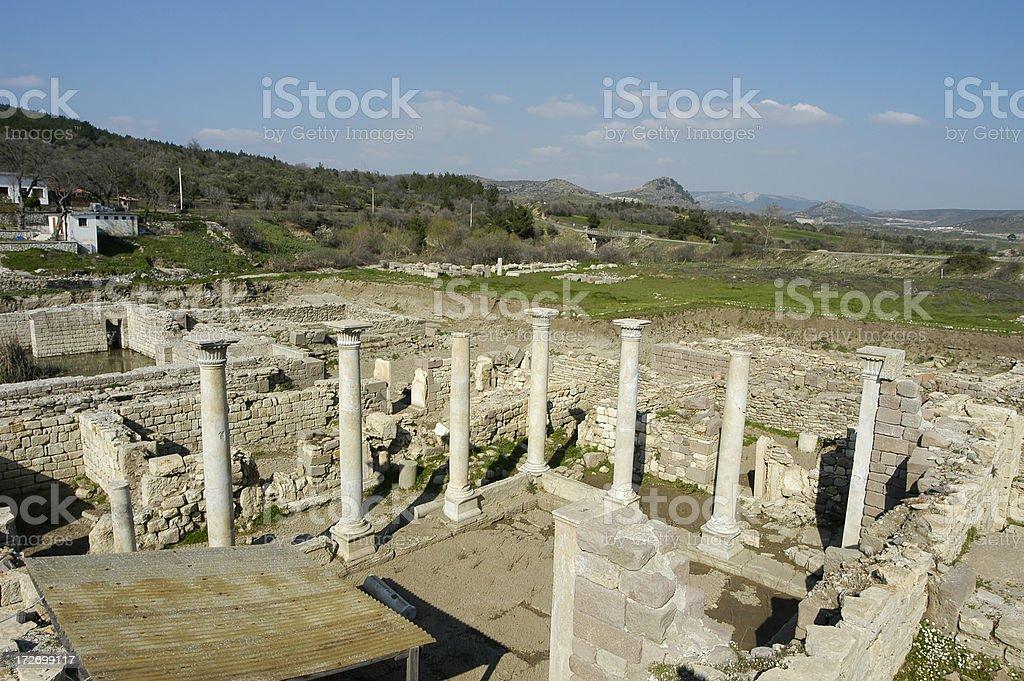 Ancient Health Center Allianoi stock photo