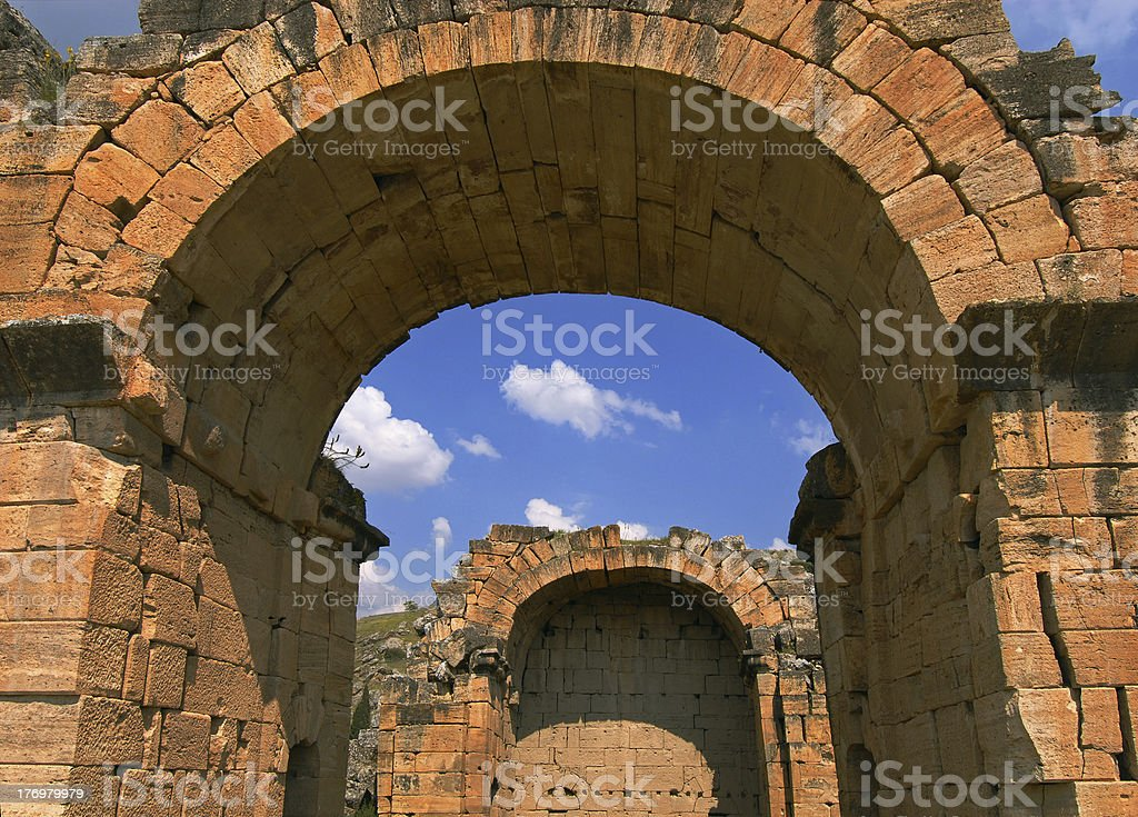 ancient Hierapolis - Pamukkale royalty-free stock photo