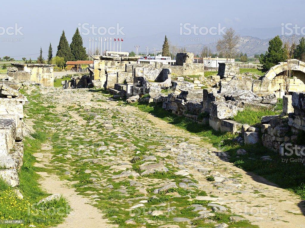 Ancient Hierapolis stock photo