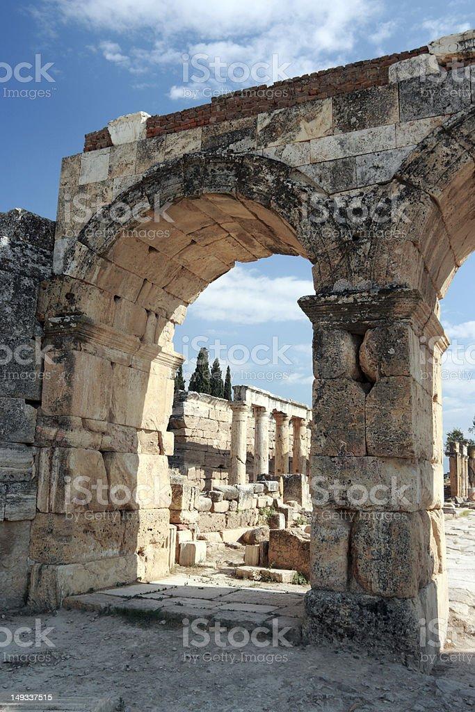 Ancient Hierapolis-Pamukkale, Turkey. stock photo