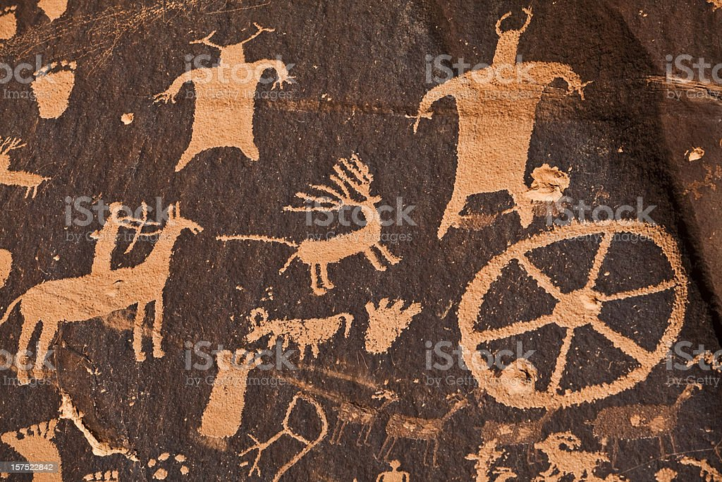 Ancient hieroglyphics stock photo