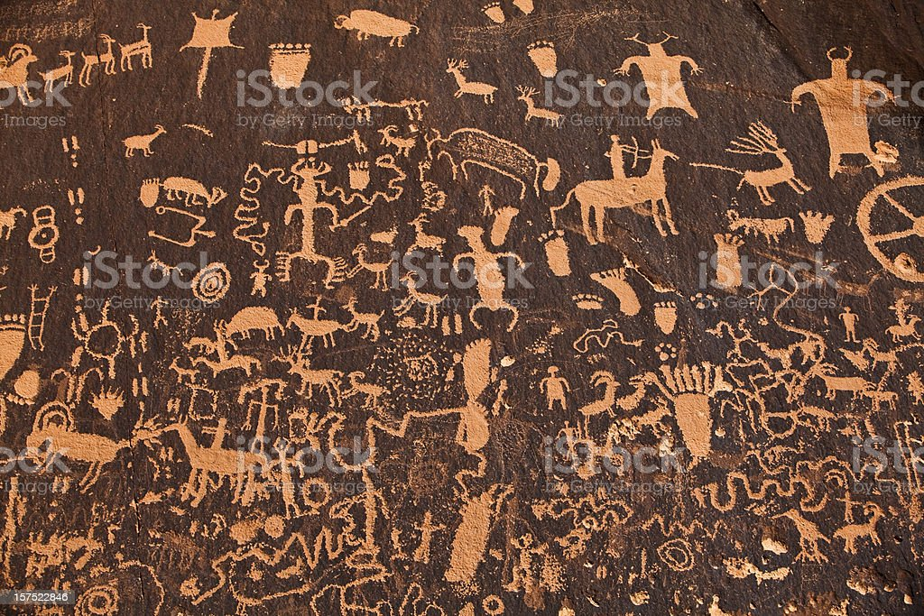 Ancient hieroglyphics royalty-free stock photo