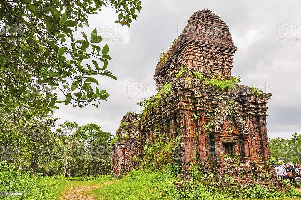 Ancient Hindu My Son Temple - Vietnam stock photo