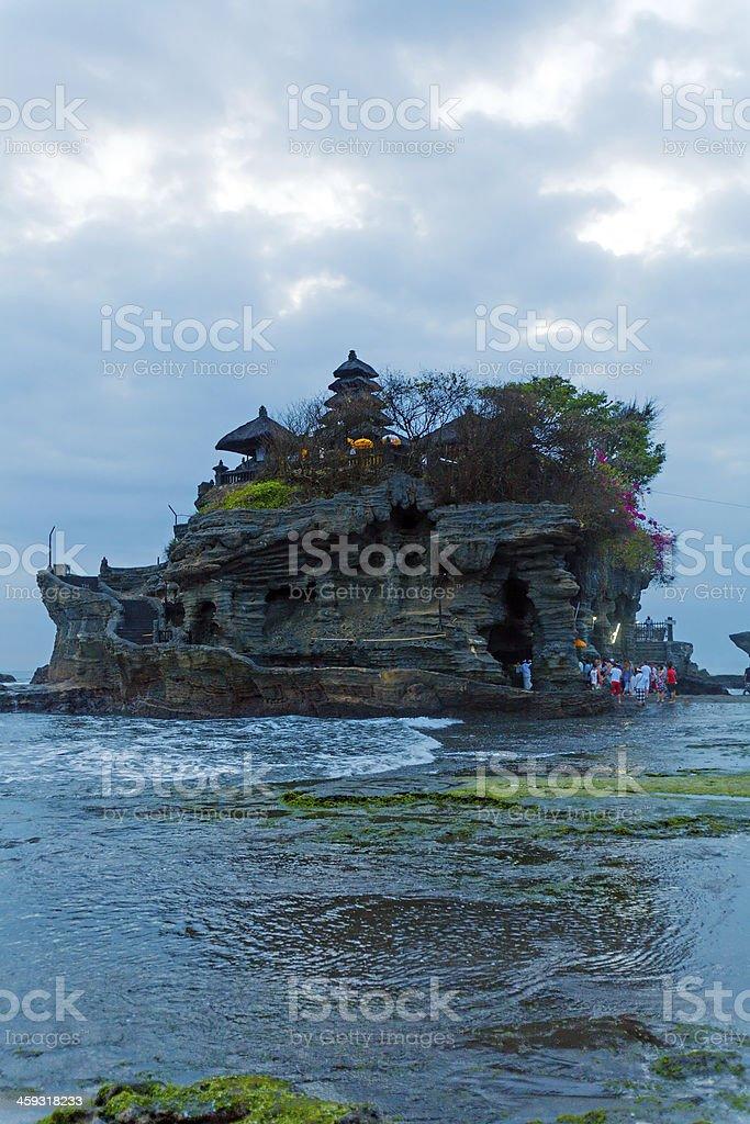 Ancient Hindu Temple at Sunset, Bali stock photo