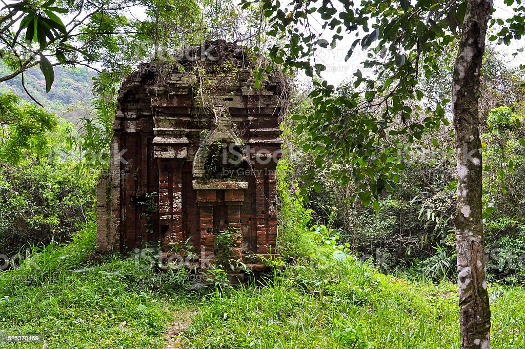 Ancient Hindu Temple in My Son - Quang Nam, Vietnam stock photo