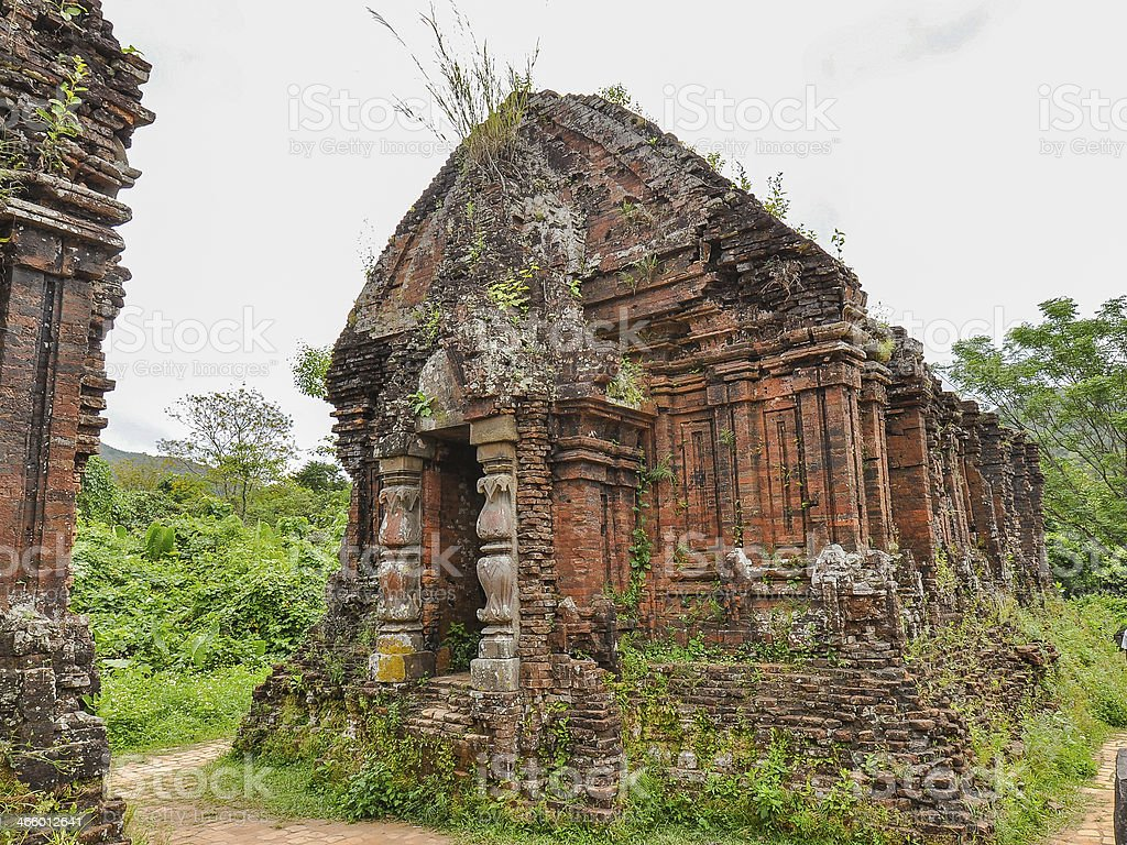 Ancient Hindu Temple in My Son, Vietnam stock photo