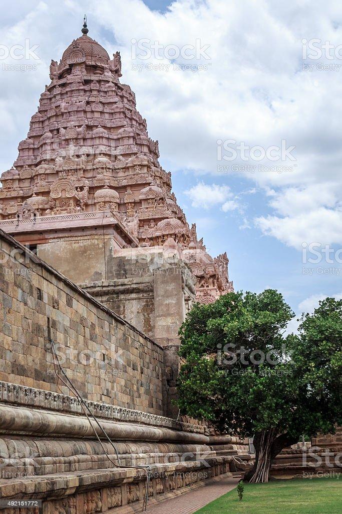 Ancient Hindu temple, India stock photo