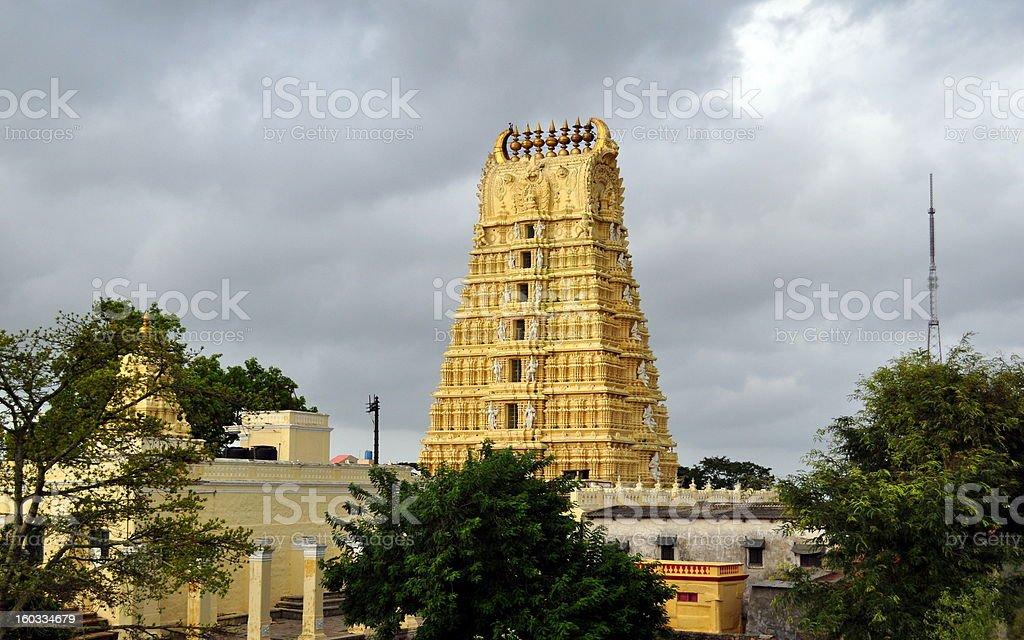 Ancient Hindu Temple. stock photo