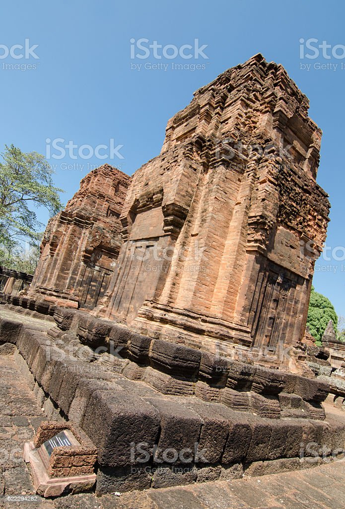 Ancient historical parks, Buriram Thailand stock photo
