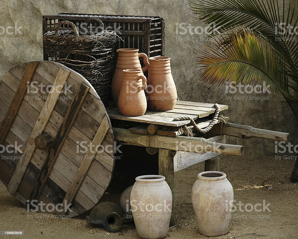 Ancient Home Life stock photo
