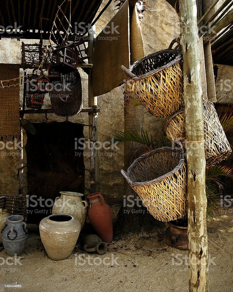 Ancient Home Life royalty-free stock photo