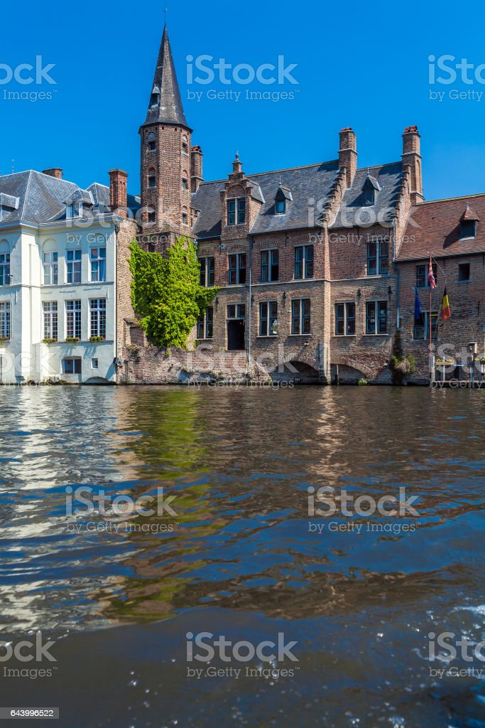 Ancient Homes of Bruges, Belgium stock photo