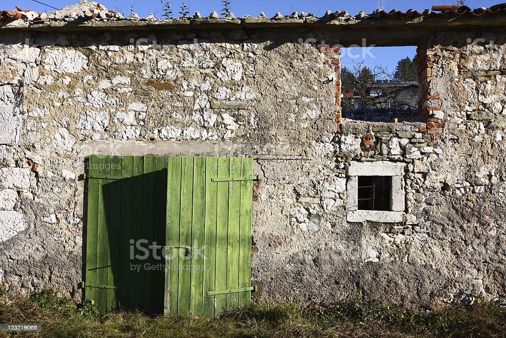 Ancient house stock photo